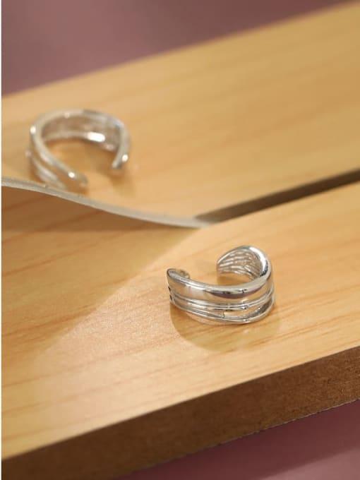 Dak Phoenix 925 Sterling Silver Irregular Minimalist Huggie Earring [Single] 1
